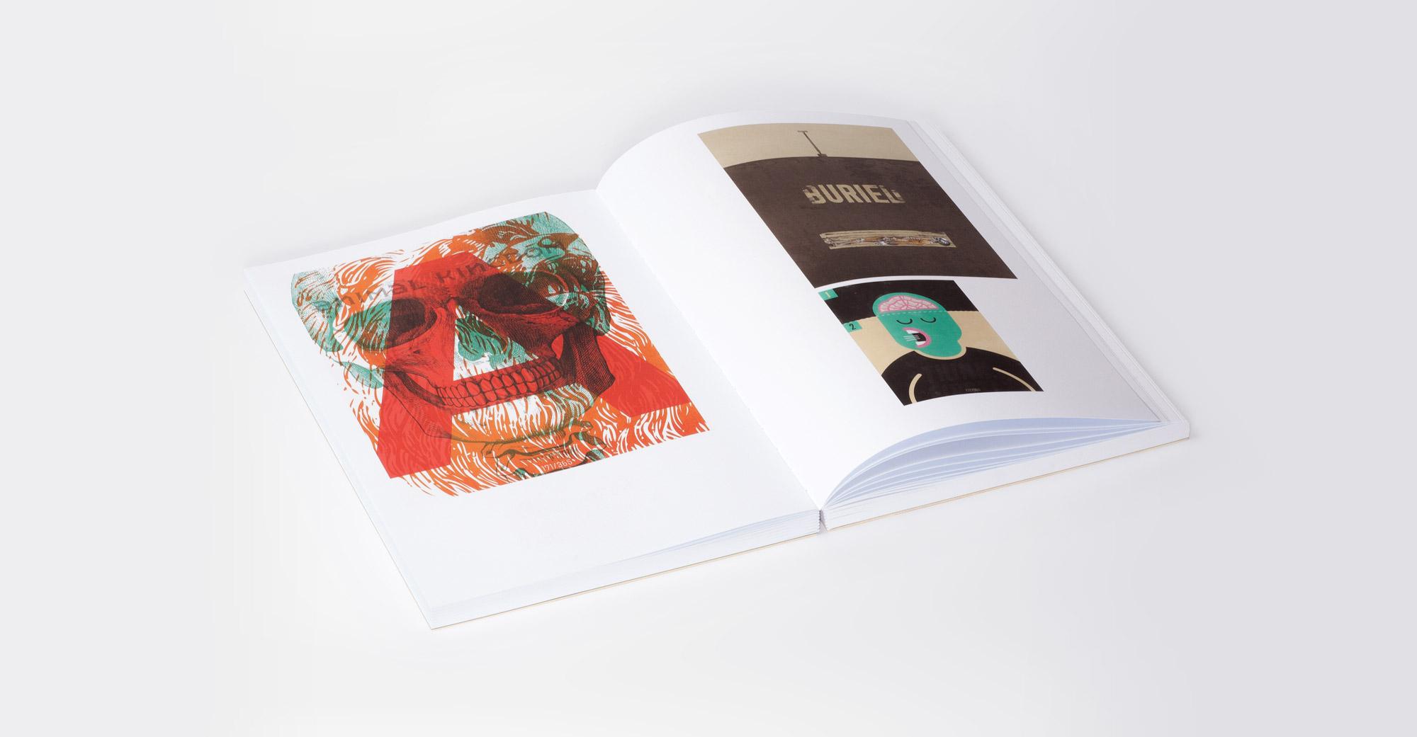 Man sieht eine Innendoppelseite des Buches