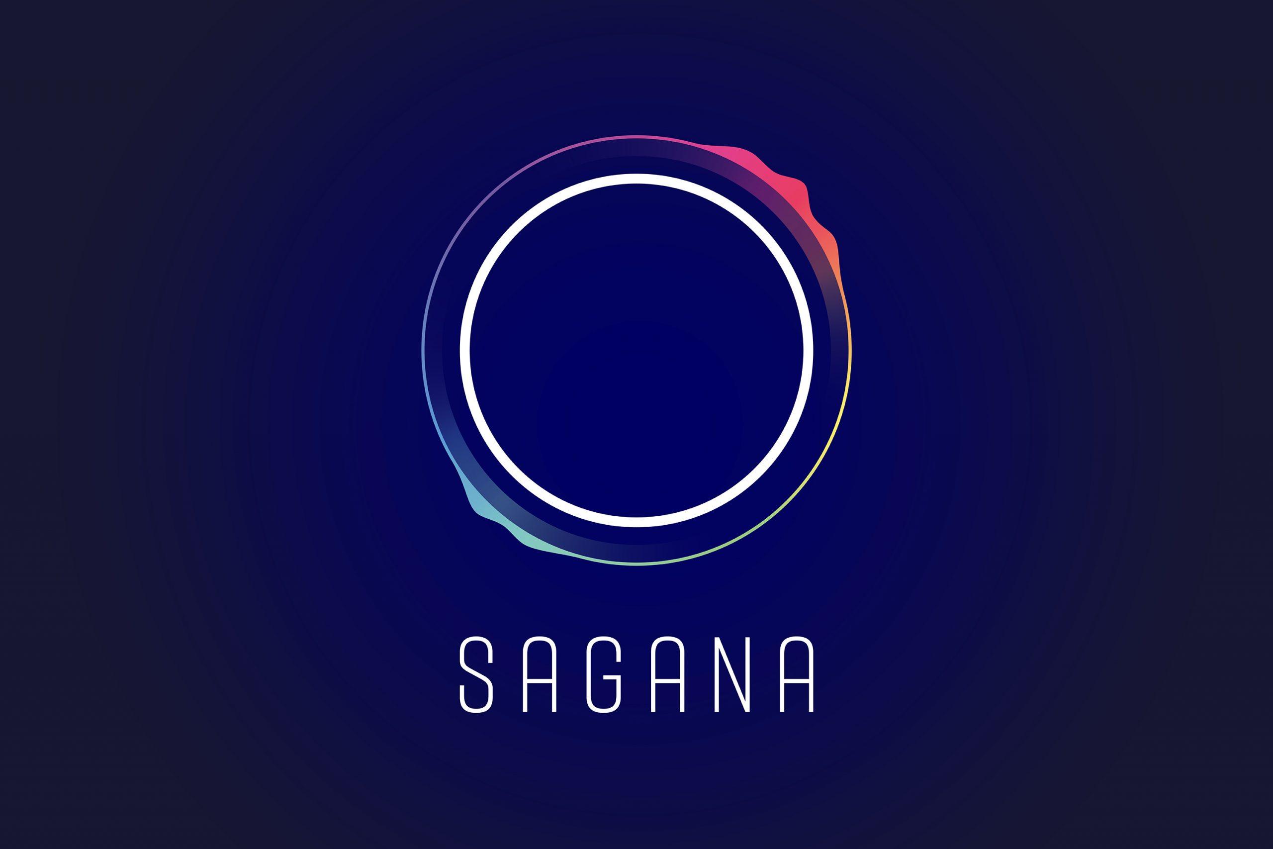 Das Bild zeigt das neue Logo von SAGANA, einer Impact Investment Beratung. Das Logo besteht aus einem weißen Kreis, der für die Erde steht. Das Design kommt von MAJORMAJOR aus Stuttgart.