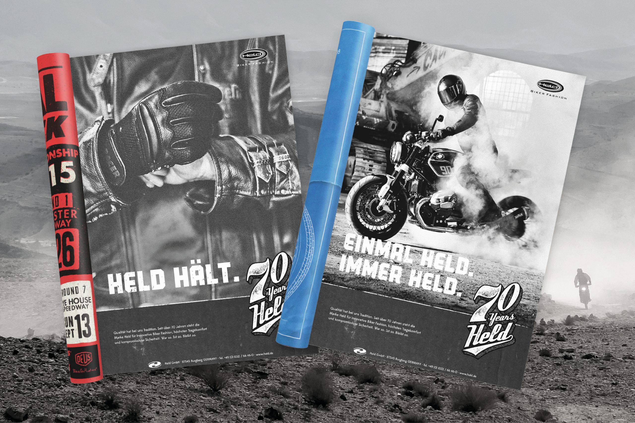 held_bikerfashion_cd_Anzeigen_70_jahre_held_by_majormajor